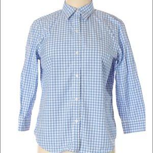 NWT-Ralph Lauren Blue & White Gingham ButtonUp; S